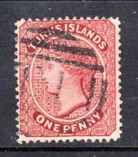 1867 TURKS ISLANDS 4 USED FINE