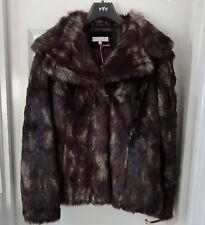 M&S Per Una SZ M Faux Fur Large Collar Jacket, BNWT, Was £79