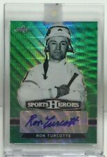 Ron Turcotte 2018 Leaf Metal Sports Heroes GREEN WAVE Autograph Auto #'d 1/3
