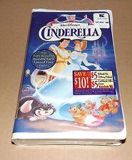 NEW Disney's CINDERELLA (VHS, 1995) Masterpiece FACTORY SEALED Walt Disney