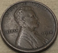 1914 -P. Very Fine Lincoln Cent Wheat Pennies. Copper Lincoln Wheat. Nice Coin.