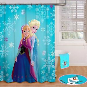 Disney Frozen Elsa and Anna Fabric Shower Curtain 70 in X 72 in NEW