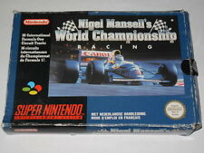 Jeu vidéo Super nintendo Nigel Mansell's World Championship Racing Super nes