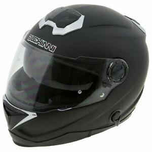 Duchinni D1300 Motorcycle Helmet Matt Black Crash Lid Full Face Motorbike