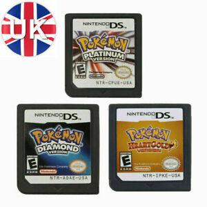Pokemon³ Platinum HeartGold Diamond Game Card For Nintendo 3DS DS Lite DSi NDS