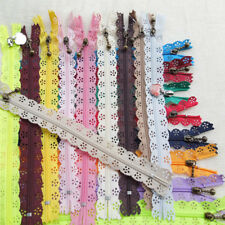 10 x 23cm Lace Closed End Zippers Nylon For Purse Bags Multicolor DIY Sewing