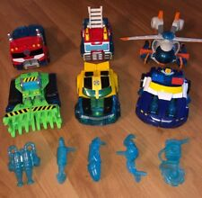 Lot Of 6 Hasbro Transformers Rescue Bots Vehicles/ Figures Bumble Bee, Optimus
