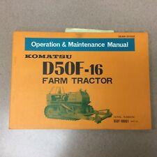 Komatsu D50F-16 OPERATION MAINTENANCE MANUAL TRACTOR AG FARM OPERATOR GUIDE BOOK