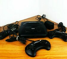 Sega Genesis Black Console Model MK-1631 w/controllers adapter - AS-IS for Parts