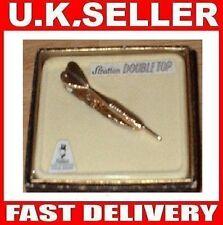 DART TIE CLIP / PIN # Metal # Gold Colour # Darts  # Double Top Christmas Gift