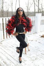 New Designer Custom ruffled red black Matador bolero coat Jacket Stroller XS 0-4