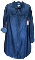 NWT  MERONA  Denim Longsleeve Button-Down Shirt Dress  Size S