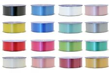 Florist Christmas Poly Ribbon 50mm Wedding Gift Wrapping Party 5m - 91m Rolls
