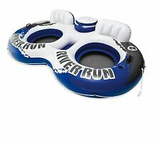Intex River Run II 2 Person Water Tube River Lake Pool Float with Cooler 58837EP