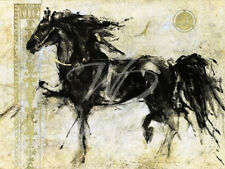 Lepa Zena Marta Gottfried Wiley Horse Abstract Art 31.5x23.5