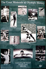 "Great Moments in OLYMPIC HISTORY - POSTER - 35"" X 23"" -"