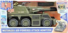"2002 GI JOE Motorized Air Powered Attack Howitzer 19"" Electronic Tank #05239"