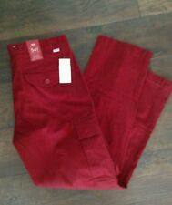 NWT Mens Levis 541 Athletic Fit Stretch Cargo Pants 32x30 MSRP $69.50 Burgundy