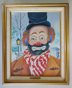 """RED SKELTON LITHOGRAPH PAINTING, """"WINTER WONDERLAND"""", NUMBERED & SIGNED w/ COA"""