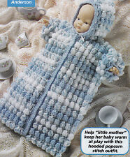 Crochet Pattern ~ Hooded Baby Doll Bunting ~ Instructions