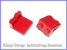 Lego 2 x Halterung Platte Winkel rot - 44728 - Bracket red - NEU / NEW