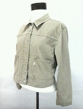 LEVI'S Womes Corderoy Cream Crop Jacket Large