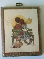 Vintage Dear Hearts by Gibson Wall Art: Boy and Girl on Bench - New/Sealed!