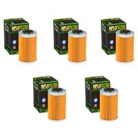 Hiflofiltro HF655 Oil Filter 5 Pack KTM 250 XCF-W 4-Stroke, 250 XC-F
