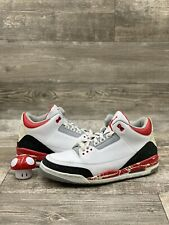 Nike Air Jordan Retro 3 III 2007 Size 12 136064-161 Cement Grey White Fire Red