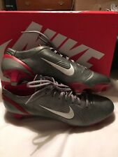 Nike Mercurial Vapor I Or II Silver Red SG Uk 11 US 12 Rare Football Boots