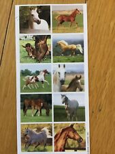 Vintage Hallmark Stickeroni Horses Sticker Sheet