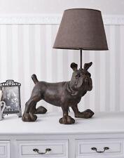 TISCHLAMPE XXL ENGLISCHE BULLDOGGE Leuchte Hundefigur Tischleuchte Lampe 60cm