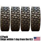 (4) 10x16.5 10 Ply Heavy Duty SKS Skid Steer Tires For Case John Deere Loader
