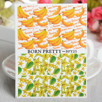 BORN PRETTY Nail Water Decals Carambola Banana Nail Art Transfer Stickers
