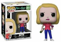 Funko Pop! Animation: Rick and Morty Beth with Wine Glass Collectible Figure NEW