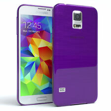 Schutz Hülle für Samsung Galaxy S5 / Neo Brushed Cover Handy Case Lila