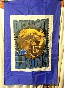 "Detroit Lions NFL Banner 27 &1/2"" X 41"" Nice Graphics Man Cave Ready"
