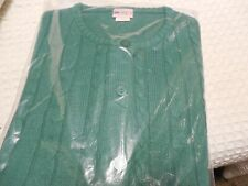NWT American Sweetheart Haband Womens Cable Knit Cardigan XL Green Long Sleeve