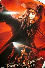 RARE Pirates Of The Caribbean At World's End Jack Sparrow Poster