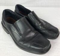 Mens Ecco Helsinki Shoes Black Leather Loafer Sz 42 Dress Shoe Slip On E4