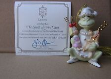 LENOX THE SPIRIT OF GRINCHMAS Grinch Ornament NEW in BOX w/COA Max Cindy Lou
