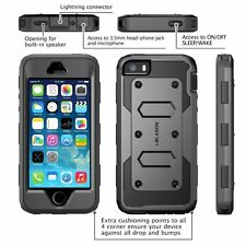 iPhone 5/5S/SE Armorbox Case Cover Screen Protector Belt Clip Hard Shell    sw