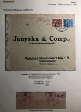 1940 Amsterdam Netherlands Commercial censored Cover To Bohemia Moravia