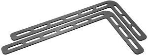 2 Staffe Meliconi 480514 Supporto Casse TV Sound Bar 1000 Nero con Foratura VESA