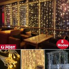 300/600 LED Curtain Fairy String Lights Wedding Indoor Outdoor Christmas Garden