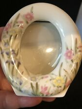 Beautiful Takahashi Ceramic Picture Frame Iris San Francisco, Made In Japan