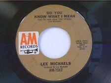 "LEE MICHAELS ""DO YOU KNOW WHAT I MEAN / KEEP THE CIRCLE TURNING"" 45"