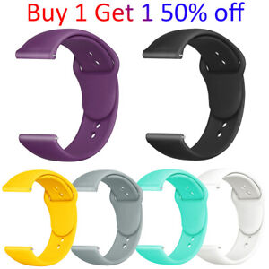 For Samsung Galaxy Watch Active 2 40mm/44mm 42 Watch Band Silicone Sport Strap