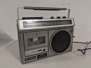 Hitachi TRK-5650H Cassette Tape Recorder Boombox Radio Tested / Working