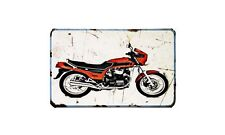Cx650E Motorbike Sign Metal Retro Aged Aluminium Bike